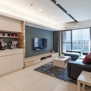 日式简约风格客厅吊顶装饰