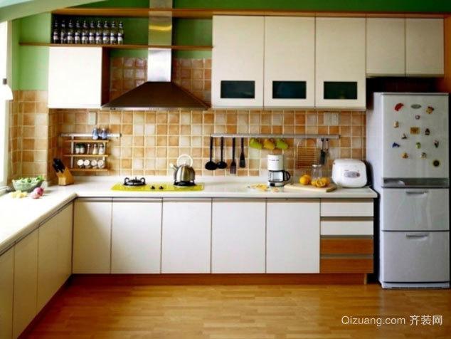 全新便捷设计:L型现代简约风格厨房装修效果图
