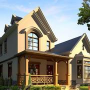 斜顶农村二层房屋图片