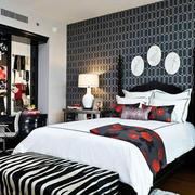 后现代风格卧室床头效果图