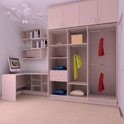 欧式简约风格卧室衣柜设计