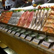日式简约自助餐厅货架设计