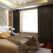 欧式卧室深色窗帘设计