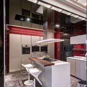 新房后现代风格厨房吧台装饰