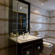 后现代风格深色卫生间浴室柜