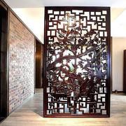中式别墅大型玄关隔断设计