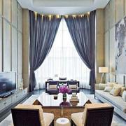 大型欧式高挑客厅窗户效果图