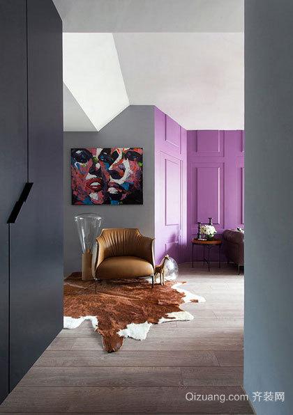 色彩绚丽,染色菁英品味 小户型青年公寓装修效果图