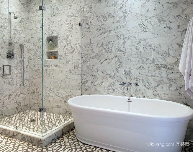 私人公寓专用的现代简约风格卫生间装修效果图