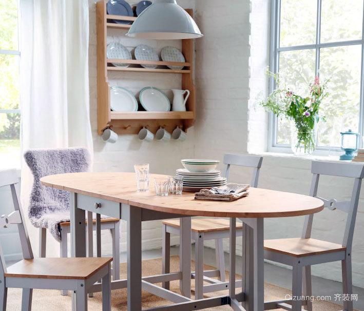 不仅仅是吃饭:优雅气质的北欧风格餐厅装修效果图