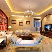 欧式客厅皮制沙发设计
