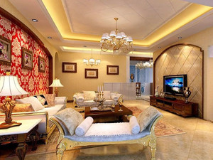 超越心灵的震撼:大户型时尚沙发背景墙装修效果图鉴赏