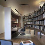 大型扇状书房装修