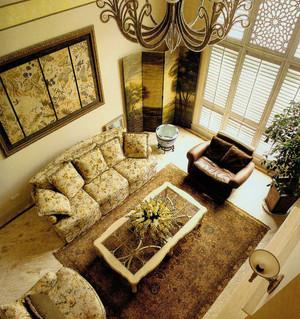 美式风格复式楼客厅装修效果图展示