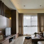 简约风格公寓客厅吊顶装饰
