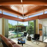 美式客厅样板房效果图