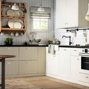 混搭风格L型厨房装饰