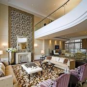 别墅美式简约风格客厅效果图
