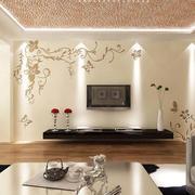 客厅印花背景墙装饰