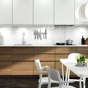 简约厨房原木橱柜装饰
