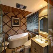 东南亚风格卫浴浴缸效果图