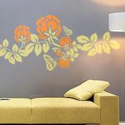 简约印花手绘墙设计