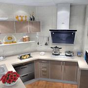 后现代风格浅色厨柜设计