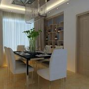 欧式简约风格新房餐厅吊顶装饰
