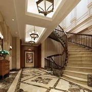 大型别墅旋转楼梯装饰