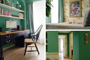 美式浅绿色工作室装饰