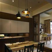 公寓深色餐厅设计