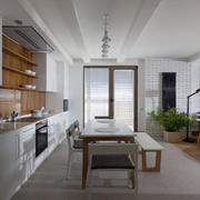 公寓简约一字型厨房设计