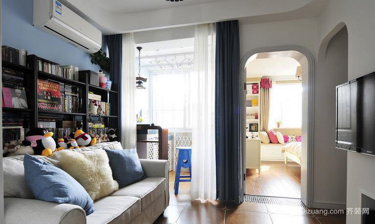 风格各异的田园风格客厅装修效果图展示