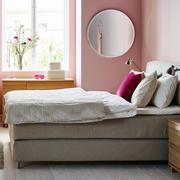 后现代风格卧室粉色背景墙装饰