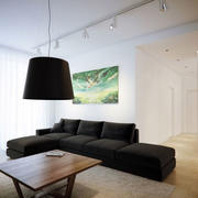 loft风格美式客厅灯饰设计