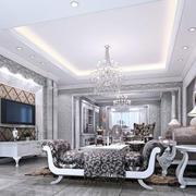 法式风格客厅装饰图