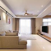 日式新房客厅沙发效果图