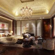 欧式卧室床头壁纸效果图