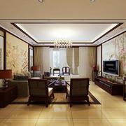 现代化中式客厅吊顶装饰