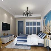卧室清新床头背景墙设计