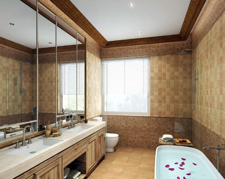 富豪之家:现代奢华的大户型卫生间装修效果图
