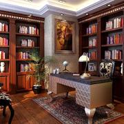 欧式简约原木书房装饰