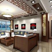 简约风格中式客厅吊顶装修