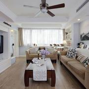 美式风格复式楼简约沙发装饰