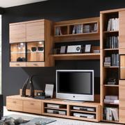 小户型客厅整体式电视柜装饰