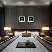 新中式风格新房卧室床头背景墙