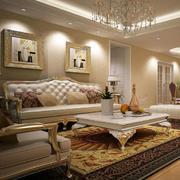 欧式奢华风格皮制沙发