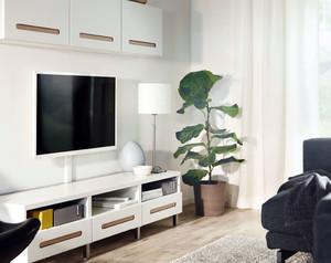 白色柜式背景墙设计