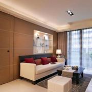 两室一厅简约客厅隐形门装饰