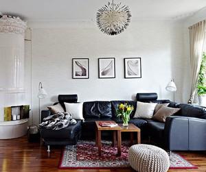 一室一厅客厅沙发装饰